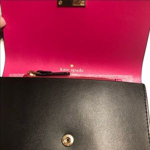 Kate Spade Mollie Wristlet Black/Pink